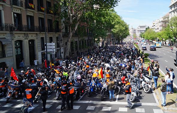 Madrid se llena de Harleys con la concentración de KM-0